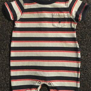 Ralph Lauren Baby Boys Cotton Striped Shortall